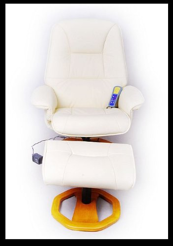 Hot Sale Aosom I3128 TV Recliner Massage Chair with Ottoman-Creme