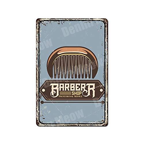 GUOYXUAN Cut shaving plaque vintage metal tin sign bar pub barber shop decoration haircut haircut service wall art sticker best gift 20 * 30cm