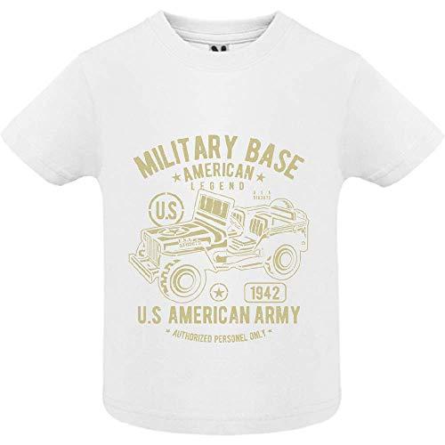 T-Shirt - American Army Jeep - Bébé Garçon - Blanc - 12mois