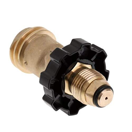 Rivland Adaptador para Tanque de Gas Con Perilla Manual para Salida POL Tipo 1 o Mexicano a Salida QCC1 o…