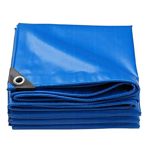 Bâche Pliable résistante, de Soleil d'auvent Bleue, Grandes couvertures de remorque de Tente imperméable au Sol, 550G / M² (Size : 4x4m)