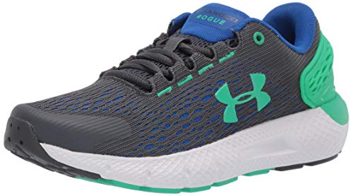 Under Armour Unisex GS Charged Rogue 2 Sportschuhe , Grau (Pitch Gray/Versa Blue/Vapor Green), 38 EU
