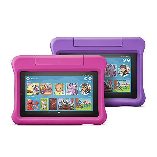 Fire 7 Kids Edition Tablet 2-Pack, 16 GB, Pink/Purple Kid-Proof Case