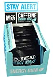 Blockhead Sugar Free Energy Gum - Peppermint Flavour - 10 Gums (Pack of 12)
