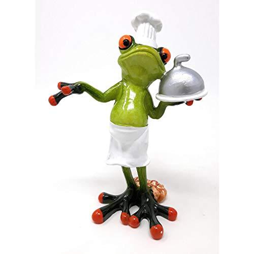 formano Dekofigur Frosch als Koch H. 15,5cm hellgrün