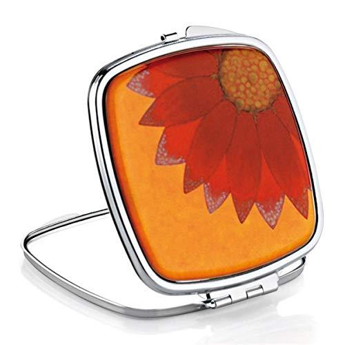 Miroir de Sac Carré Fleur Orange ELLEN - X2