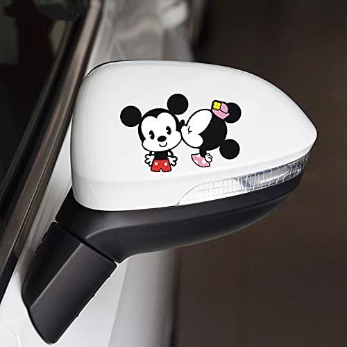 BUCUO Etiqueta engomada de la decoración del Coche de Dibujos Animados Lindo Mickey Mouse Espejo retrovisor Personalidad Creativa Etiqueta engomada del Espejo retrovisor