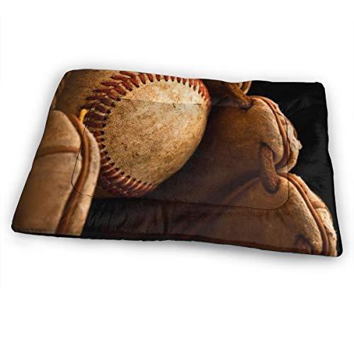 ATHG Huge Pet Mat Baseball Glove Non-Slip Soft Pets Bed Mats for Dog/Cat