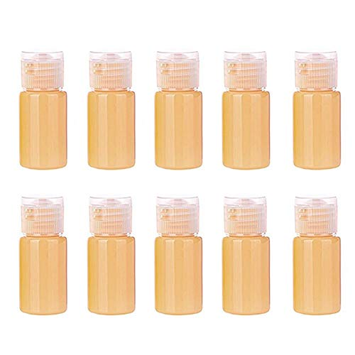 xaihe10 botellas de spray de agua de 14 ml de plástico transparente de colores de caramelo, botellas atomizadoras de viaje, recipientes de líquido recargables para maquillaje cosmético