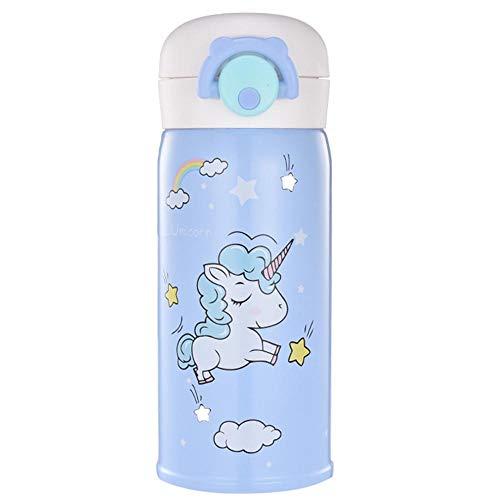 Regalo del día del niño La botella de agua de la temperatura de la temperatura de la temperatura de la taza de agua de acero inoxidable con aislamiento de los niños es ligero y fácil de transportar 35