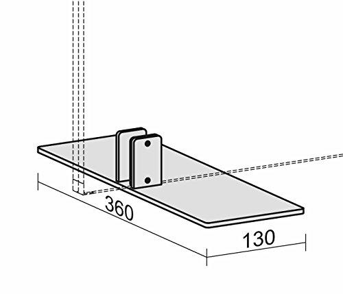 Geramöbel Trennwände, Standfuß für Stellwände, 2 Stück pro Stellwand notwendig