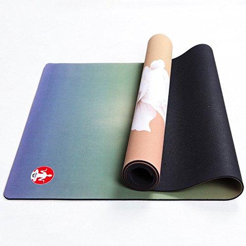 ASDCASC GDS Suede + Gomma Antiscivolo Yoga Tappetino Yoga Tappetino Gomma Naturale di Colore Verde