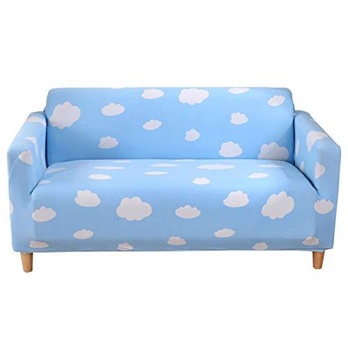 Allenger Funda Elástica de Sofá,Printed Stretch Sofa Cover, Furniture Protector, Machine Washable, Non-Slip Sofa Cushion-Baiyun 1_195cm-230cm