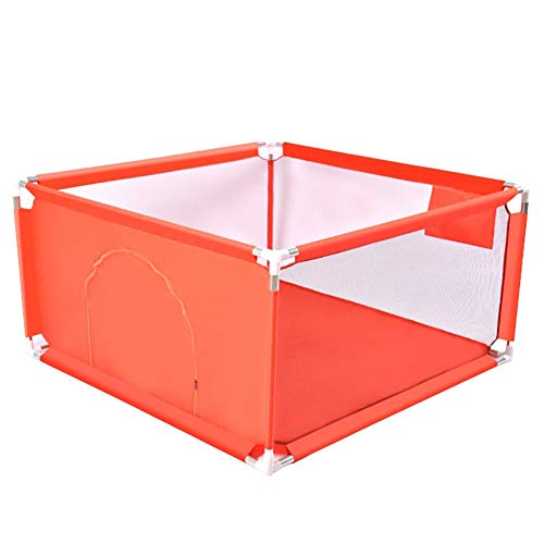 Meubles à chaussures Bébé Playpen Parc pour Bébé Carré avec Boule D'océan, Centre D'activités pour Enfants Baby Fence, Jeux Intérieur et Extérieur Faciles à Installer (Color : Red)