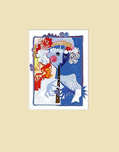 Rosina Wachtmeister Poster Kunstdruck Bild Golden Flute (Sand) 30x24cm
