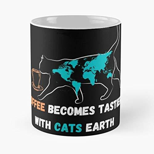 Honey Blood Day Fever Green Cam Becomes Earth Tastier Justice with Coffee Cats enough come food Bite John Best Taza de café de cerámica de 315 ml