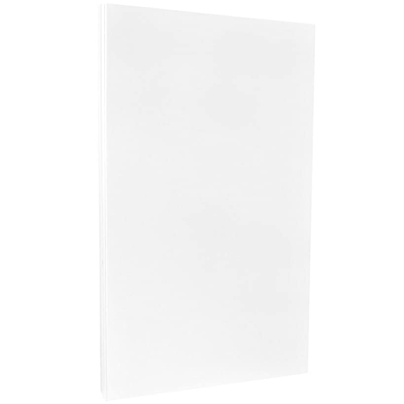JAM PAPER Legal 80lb Cardstock - Glossy 2 Sided - 8.5 x 14 Coverstock - White - 50 Sheets/Pack