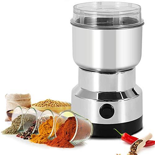 Aiboria Multifunktions-Zerkleinerungsmaschine,250 W elektrische Getreidemühle,Kaffeemühle,Klingen aus rostfreiem Stahl,geräuscharme Getreidemühle für Kräuter/Gewürze/Nüsse/Körner/Kaffeebohnen