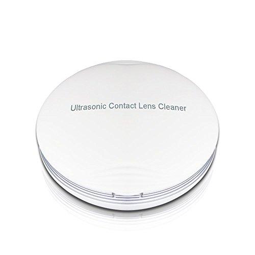 Ultraschallreinigungsgerät Ultraschallreiniger Ultraschallgerät für Kontaktlinsen, Ultraschall Automatischer Reiniger, Kontaktlinsenreiniger mit USB-Ladegerät, Kosmetikspiegel Schnelle Reinigung