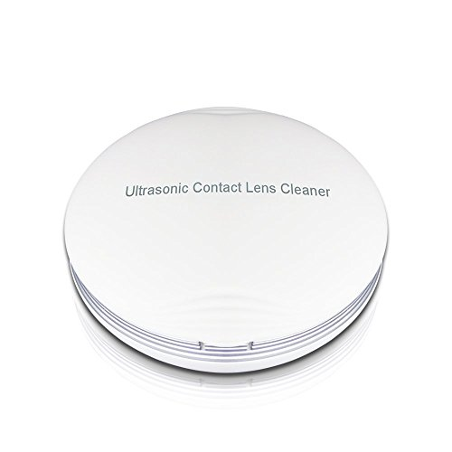Portable Ultrasonic Contact Lens Cleaner Fast Cleaning Sclerals Lenses Daily Care Contact Lenses with Vanity Mirror