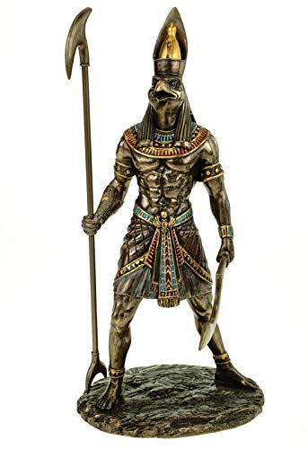 Veronese Figur Horus ägyptischer Gott des Himmels 27 cm Ägypten Pharao bronziert