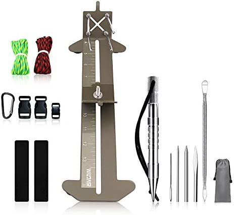 WILDAIR Paracord Bracelet Jig Kit with Marlin Spike Paracord FID Set 6 Lacing Needles Fids for product image