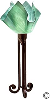 product image for Jezebel Radiance Torch Light. Hardware: Brown with Brown Highlights. Glass: Seafoam Green, Flame Style