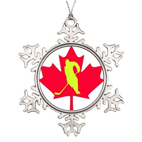 VinMea Snowflake Metal Ornament Personalised Christmas Tree Decoration Canada Metal Christmas Trees