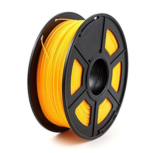 SDFW Exceptionnel Imprimante 3D Filament PLA 1.75mm 1 kg / 2,2 LB 3D consommables en Plastique matériel 3D Filament Etats-Unis NatureWorks PLA dureté (Color : Fluo Orange)