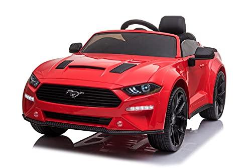 Voiture électrique Ford Mustang 24V, Rouge, Roues Soft EVA, Moteurs 2 x 16000 TR / Min, châssis et...