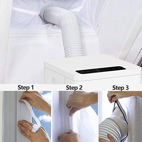 Hengda 3 in 1 Mobiles Klimagerät,2000W Klimaanlage mit Fensterdichtung,19.2L/Day Kapazität,Multi Edition Aircooler,Luftentfeuchter und Ventilator mit Schlafmodus,für Räume bis 30 m³