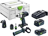 Festool 576468 Perceuse-visseuse à percussion sans fil PDC18/4Li-Set 18 V 5,2 et 4,0 Ah (Li-Ion)