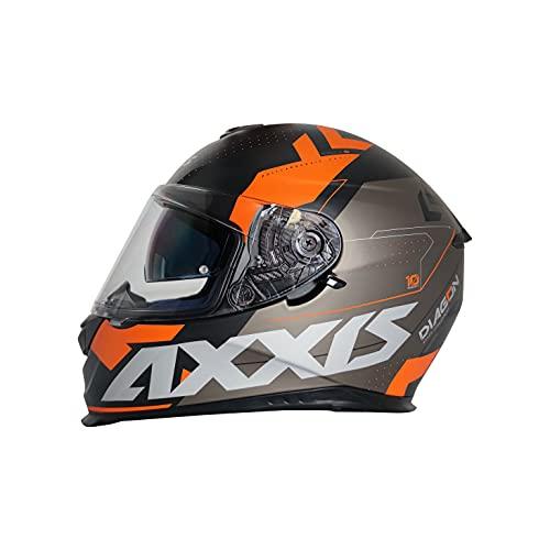 AXXIS Casco Moto Integral Eagle SV DIAGON D4 Naranja Mate con Gafa Solar Interna Talla XL (61-62 CMS) HOMOLOGADO