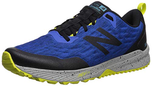New Balance Men's Nitrel V3 Trail Running Shoe, Cobalt/Black, 9 XW US
