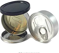 BIGSMOKESUPPLIES 60X Hand Closed Tin Can Pressitin - Tuna Can Hoop Ring - NO MACHINE NEEDED - 100ml 3.5g