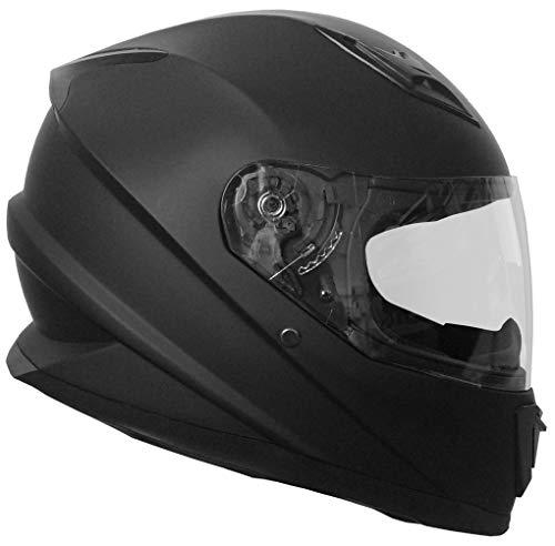 Integralhelm Helm Motorradhelm RALLOX 62 Schwarz Matt Größe L Sturzhelm