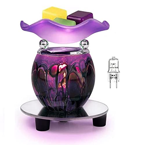 Hunanbang Electric Oil Melt Warmer Electric Wax Melt Warmer Wax Melter Fragrance Oil Warmer Burner(GEN LW-Purple)