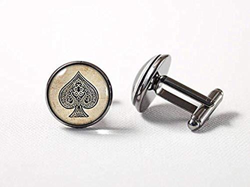 Poker Manschettenknöpfe Spades Karte Anzug Poker Jewelry Karte Manschettenknöpfe