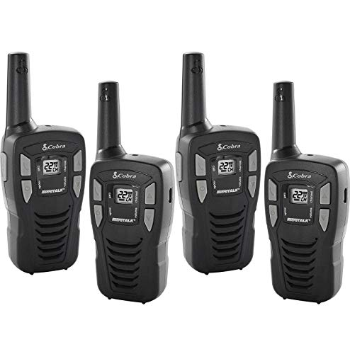 Cobra 16-Mile 22-Channel FRS/ GMRS Walkie Talkie 2-Way Radios, CX112 (2 Pair)