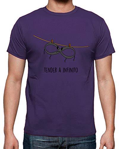 latostadora - Camiseta Tender A Infinito para Hombre Morado XL