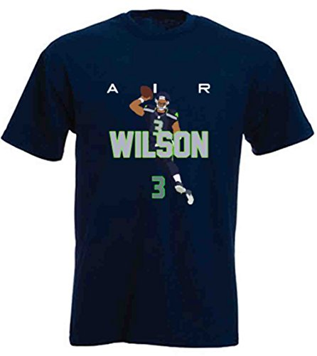 The Silo Navy Seattle Wilson AIR PIC T-Shirt Adult