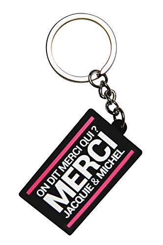 Jacquie & Michel - Porte-clés J&M logo rectangulaire