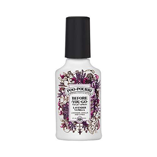 Poo-Pourri Lavender Vanilla Scent Before-You-Go Toilet Spray 4 oz Bottle, 4 Fl Oz (Pack of 1)