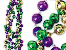 New 42 Mardi Gras Twist Beads per dozen