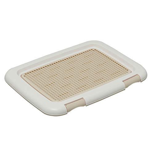 Iris Ohyama FT-485 Trainingstablett für Hunde/Toilettentraining mit Gitterrost, Kunststoff, Beige, Medium, 48,5 x 36,5 x 3 cm