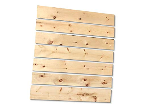 1qm Zirbenholz 25mm gehobelte Holzbretter L=100cm Glattkant Zirbenbett als Wandverkleidung Bett Regal