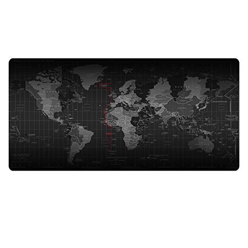 Z IMEI Verlängert Laptop-Tastatur-Maus-pad Dicke 4 Mm Gaming-Maus-pad Nicht-Slip Büro-schreibunterlage Geldklammer Schreibtisch Blotter Langlebige Abgesteppten Kanten Waschbar-g 80x40cm/31x16inch