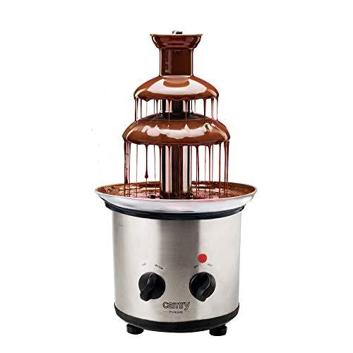 Camry CR 4488 Fuente de Chocolate, Cuerpo de Acero Inoxidable, 3 Pisos, Capacidad 650 ml, Temperatura Máxima 60°C, Base Antideslizante con Pies Ajustables, 320 W