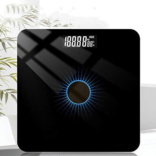 PICKME Solar-Personenwaage, Hochpräzise Digital-Badezimmer-Körper-Skala, Smart Electronic LED Digital Gewicht Badezimmer,B