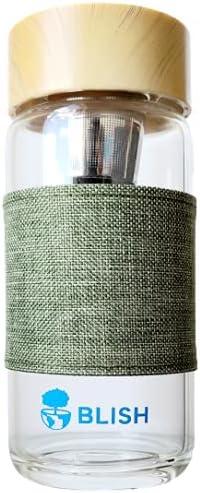 Blish Glass Tea Bottle with Stainless – 13 Steel Filter oz. online shopping 5 ☆ popular